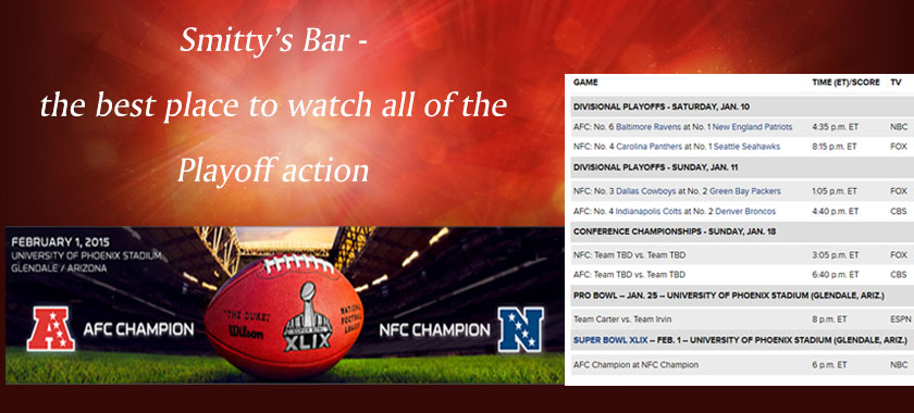 Watch the NFL Playoffs at Smitty's Bar