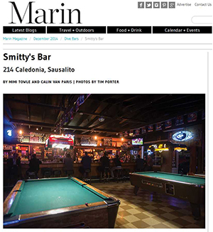 Marin Magazine December 2014 - The Best Dive Bars in Sausalito