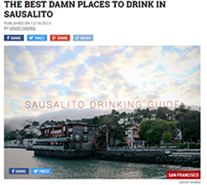 The Thrillist - Best Bars of Sausalito